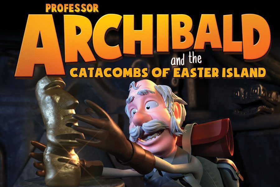 professor Archibald and the catacombs of easter island