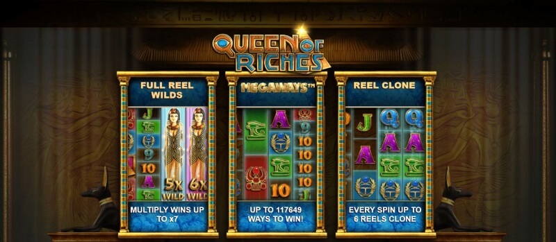 Queen of Riches Megaways features