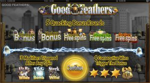 Good Feathers features