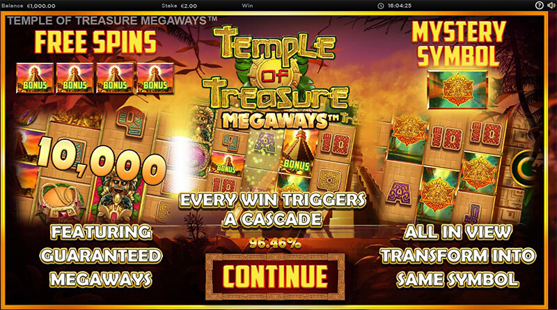 Temple of Treasure Megaways features
