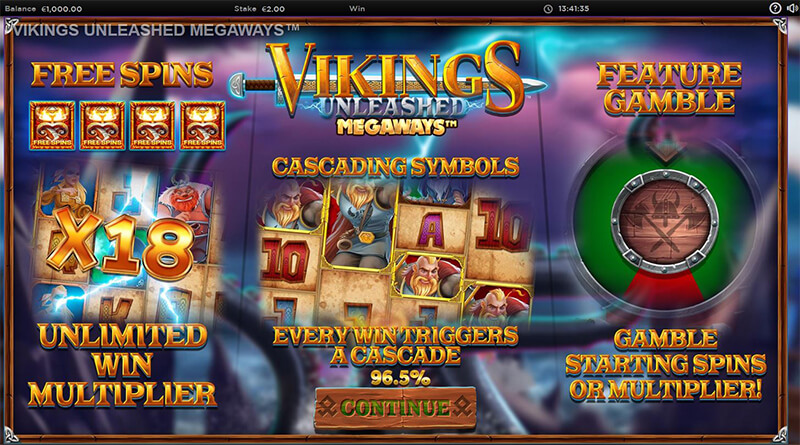 Vikings Unleashed Megaways features
