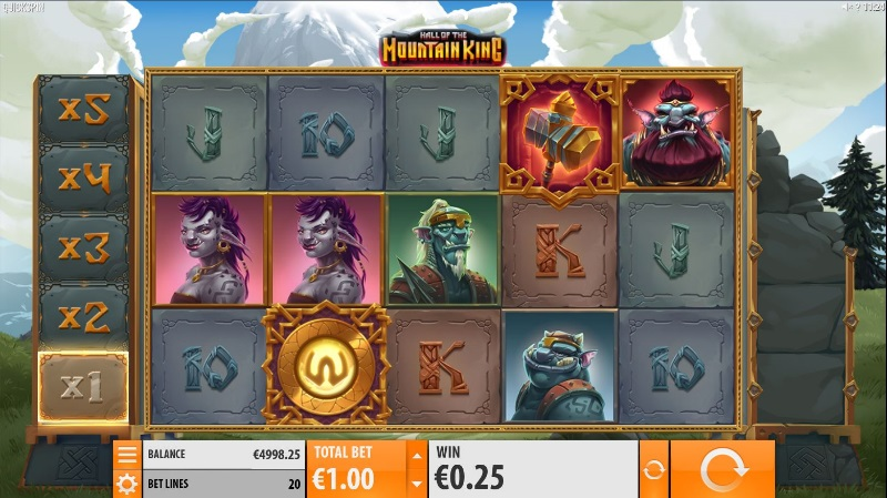 Videoslot Hall of the Mountain King Lucky Days Casino