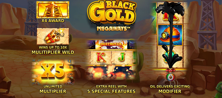 black gold megaways features