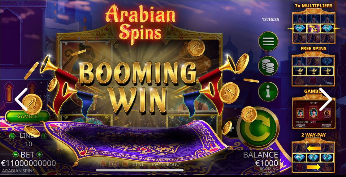 Arabian Spins Booming Games