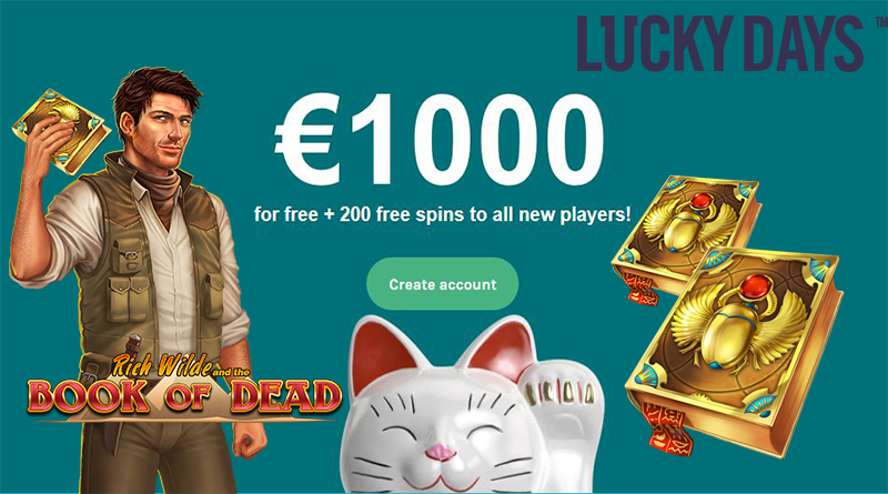 Book of Dead bonus Lucky Days Casino