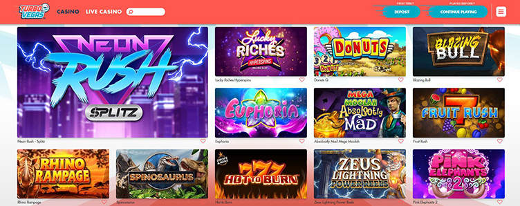 Turbo Vegas Casino videoslots