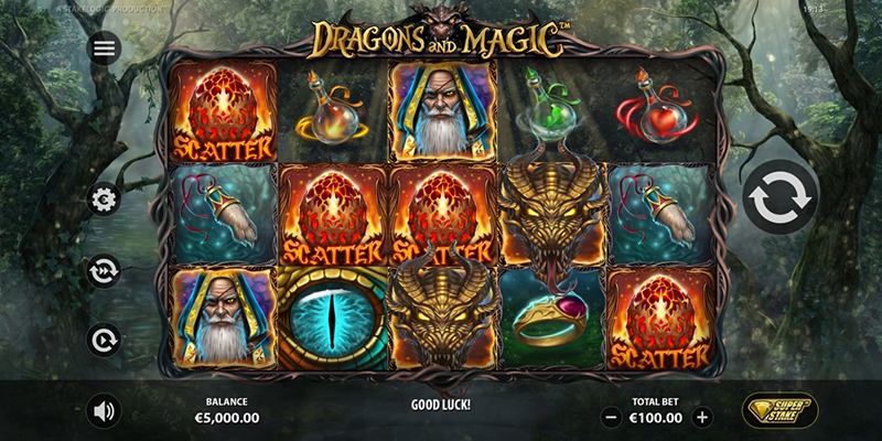 dragons and magic scatter