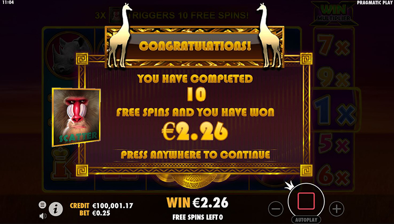 hot safari scatter free spins