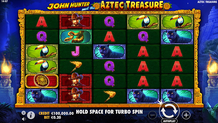 john hunter and the aztec of treasure videoslot