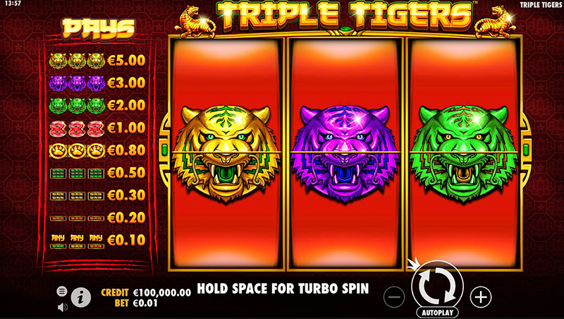 triple tigers videoslot