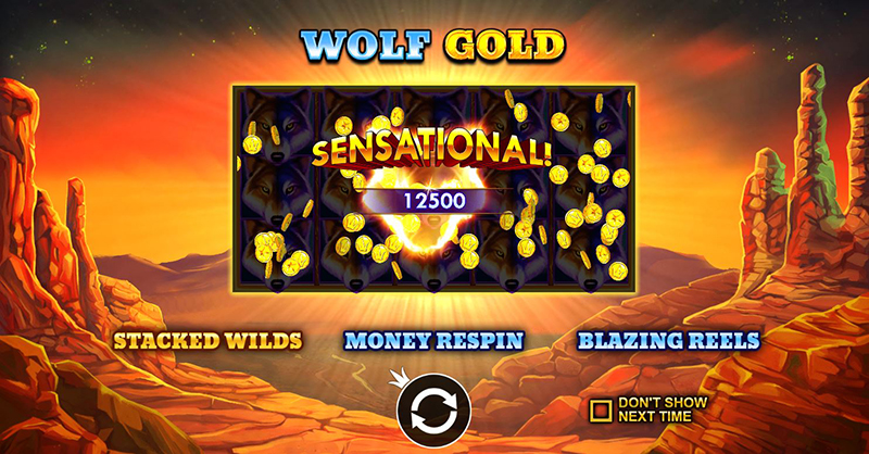 wolf gold stacked wilds