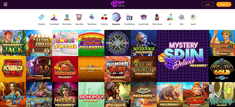 BooCasino Megaways games