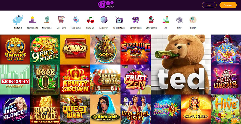 BooCasino casino games