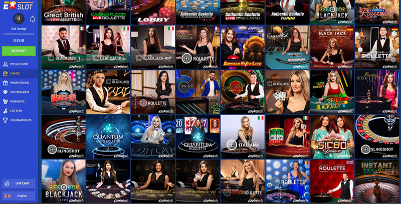 EUslot live casino games