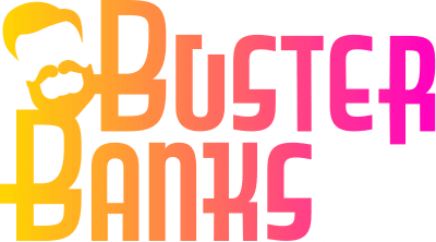 busterbanks logo wit