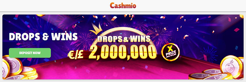 cashmio drops & wins