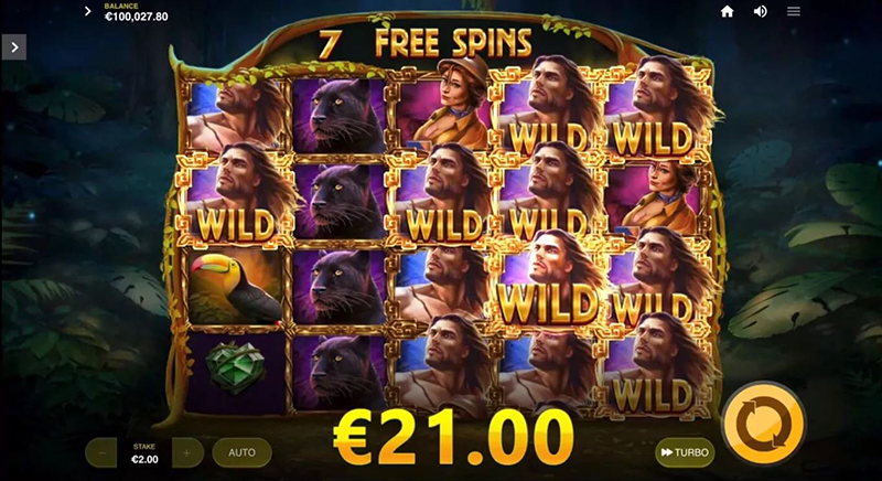 Lord of the Wilds wilds free spins