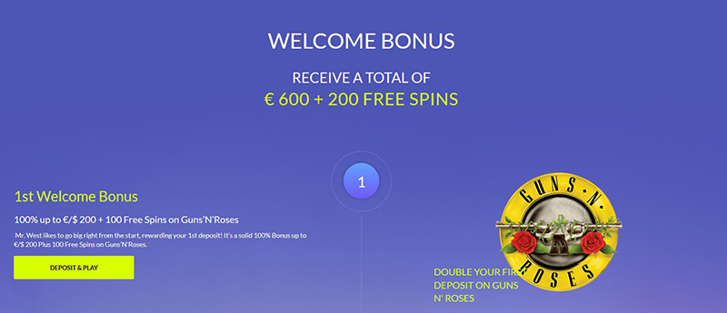 new players welcomebonus west casino
