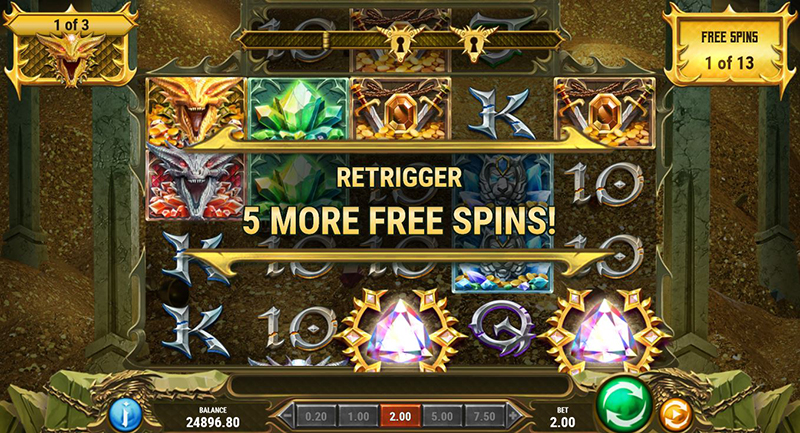 24K Dragon free spins