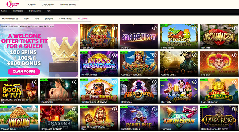 Queen Play Casino all games