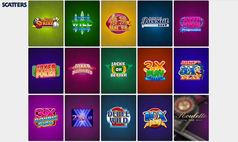Scatters Casino table games