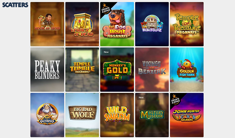 Scatters Casino video slots