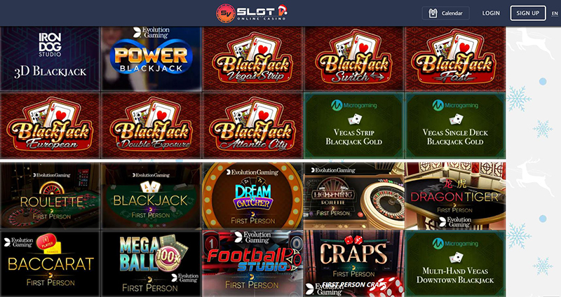 Online and live casino games SlotV