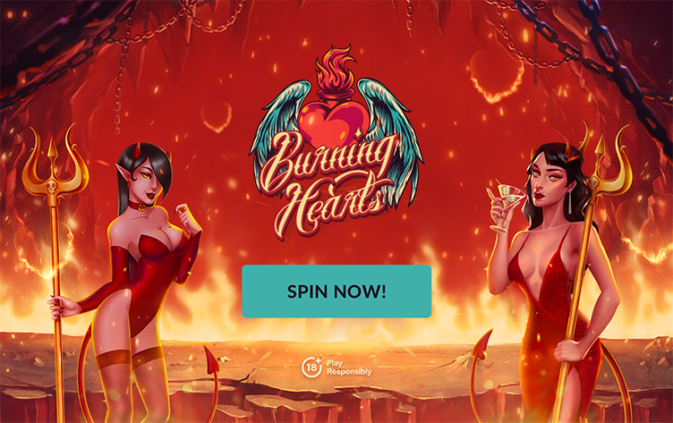 Burning Hearts spin now WestCasino
