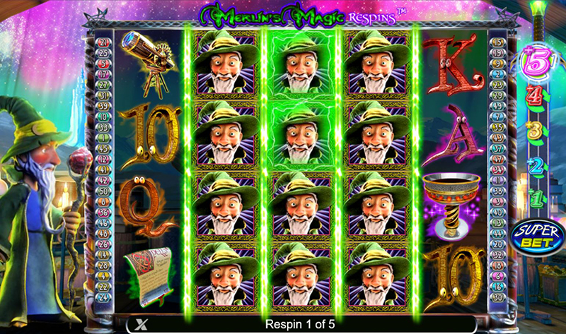Merlin's Magic Respins free spins