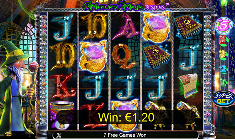 Merlin's Magic Respins scatters
