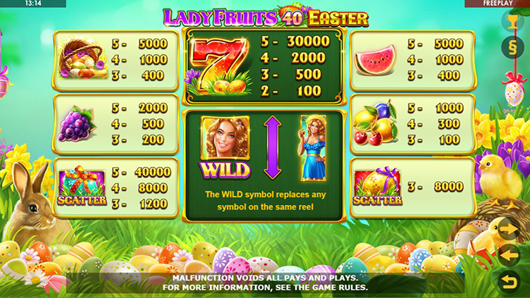 Lady Fruits 40 Easter symbols
