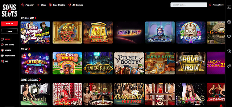 Sons of Slots casino games