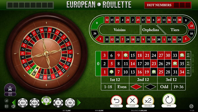 Amok Casino Europees roulette online