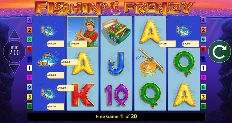 Fishin' Frenzy Spin Boost free spins