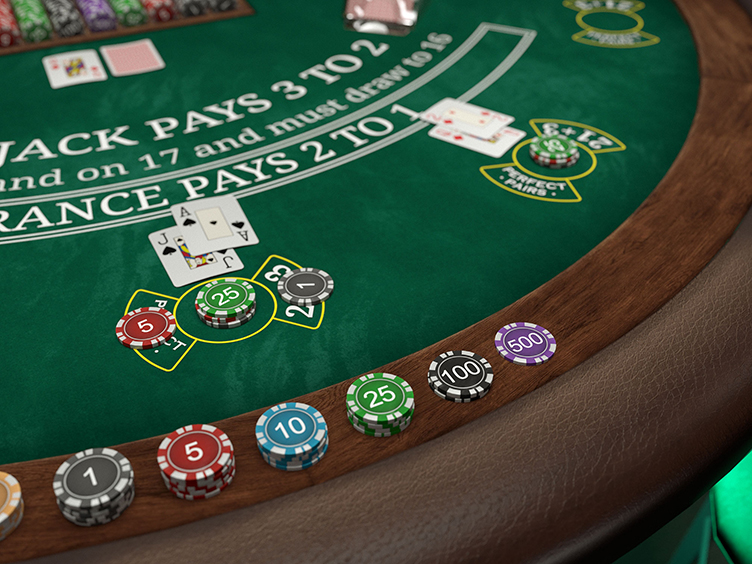 First person blackjack close up
