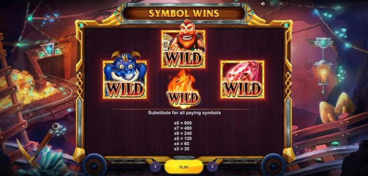 Treasure Mine Power Reels wild symbols